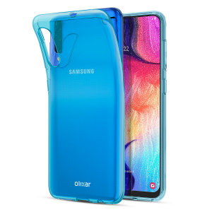 Custom moulded for the Samsung Galaxy A30S, this blue FlexiShield case by Olixar provides slim fitting and durable protection against damage.