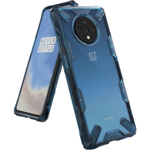 Keep your OnePlus 7T protected from bumps and drops with the Rearth Ringke Fusion X tough case in Blue. Featuring a 2-part, Polycarbonate design, this case lives up to military drop test standards so you can rest assured that your device is safe