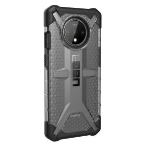 The Urban Armour Gear Plasma semi-transparent tough case in Ice for the OnePlus 7T features a protective case with a brushed metal UAG logo insert for an amazing rugged and stylish design.