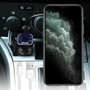 Keep your Apple iPhone 11 Pro fully charged on the road with this high power 3.1A Car Charger. As an added bonus, you can charge an additional USB device from the second built-in USB port!