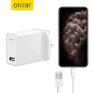 Charge your iPhone 11 Pro and any other USB device quickly and conveniently with this compatible 2.5A high power Lightning charging kit. Featuring a UK wall adapter and Lightning cable.