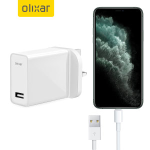 Charge your iPhone 11 Pro Max and any other USB device quickly and conveniently with this compatible 2.5A high power Lightning charging kit. Featuring a UK wall adapter and Lightning cable.