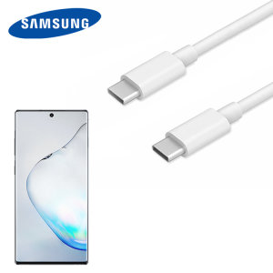 Official Samsung Note 10 Plus USB-C to USB-C Delivery Cable 1m - White