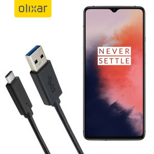 Olixar USB-C OnePlus 7T Charging Cable - Black 1m