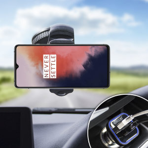 The perfect in-car accessory pack for your OnePlus 7T. Featuring a case compatible car holder mount, a 3.1 amp USB car charger and a 1m Lightning cable; you'll have everything you need to hold and charge your phone while driving.