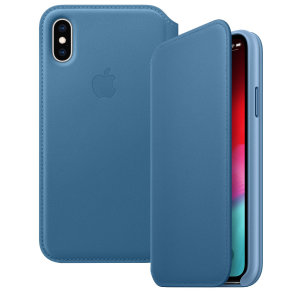 This official premium leather folio case for the iPhone XS in blue from Apple offers top level protection, while looking and feeling luxurious. Designed and made by Apple, this case fits your iPhone perfectly and compliments its overall aesthetic.