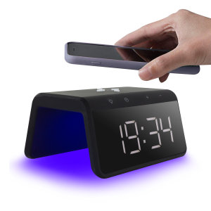The Smart Alarm Clock 2 from Ksix is the perfect bedside accessory. The slim design displays a clear time without using much space. Never loose power as this clock is built with a Qi Fast Charger & 8 colour mode night light giving you the perfect sleep.