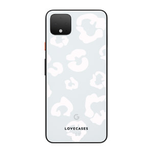 LoveCases Google Pixel 4 XL Clear Leopard Print Case