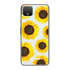 LoveCases Google Pixel 4 Sunflower Clear Phone Case
