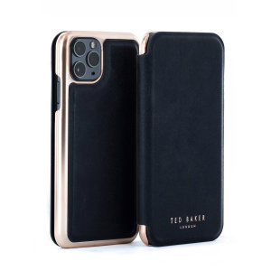 Form-fitting and bulk-free, the Folio case for iPhone 11 Pro Max from Ted Baker in Black sports an eye-catching yet sophisticated black appearance and feel while also offering superlative protection for your device from drops, scrapes and other damage.