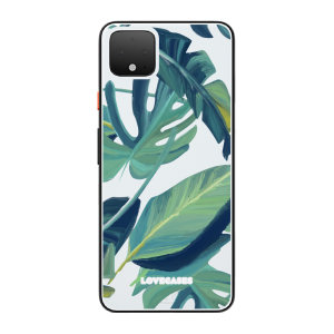 LoveCases Google Pixel 4 Tropical Leaf Clear Phone Case