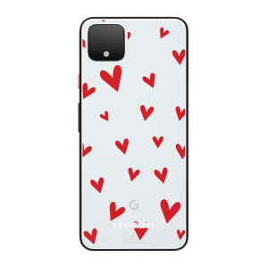 LoveCases Google Pixel 4 XL Hearts Clear Phone Case