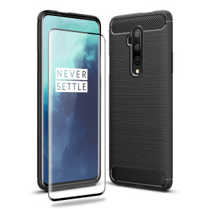 Flexible rugged casing with a premium matte finish non-slip carbon fibre and brushed metal design, the Olixar Sentinel case in black keeps your OnePlus 7T Pro protected from 360 degrees with the added bonus of a tempered glass screen protector.