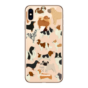 LoveCases iPhone XS Dogs Clear Phone Case