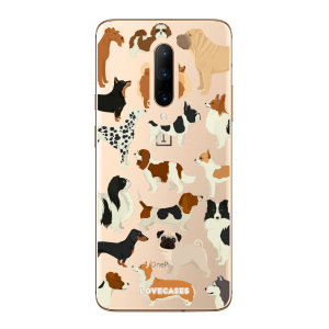 LoveCases OnePlus 7 Pro Dogs Clear Phone Case