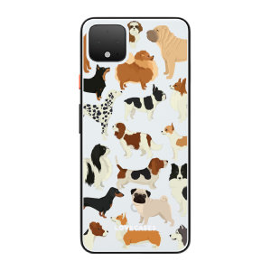 LoveCases Google Pixel 4 Dogs Clear Phone Case