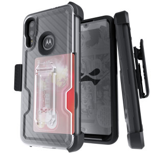The Motorola Moto E6 Plus Iron Armor 3 case in Black from Ghostek provides your Motorola Moto E6 Plus with fantastic all-around protection. Includes a card slot for added convenience.