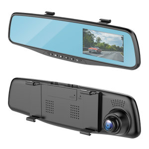 The Forever 2-in-1 Smart Rear-View Mirror is a premium Dash Cam which will provide you with peace of mind while driving. It's high-quality LCD Screen records your journey whilst you can use the rear view mirror as normal. Say goodbye to bulky dash cams.