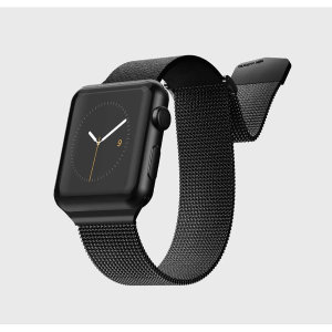 The Hybrid Mesh Watch Strap in Black from X-Doria is made from leather with a luxurious stainless steel mesh adjustable band for a comfy, secure, sophisticated and luxurious look & fit. This will fit 40mm & 38mm Apple Watches from series 1-4