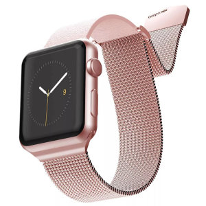 The Hybrid Mesh Watch Strap in Pink from X-Doria is made from leather with a luxurious stainless steel mesh adjustable band for a comfy, secure, sophisticated and luxurious look & fit. This will fit 40mm & 38mm Apple Watches from series 1-4