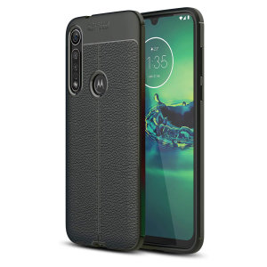 Olixar Attache Motorola Moto G8 Plus Leather-Style Case - Black
