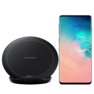 Charge your Samsung Galaxy S10 quickly with the 9W official fast wireless charging stand in black. Spend less time waiting around for your phone to charge with this official Samsung fast wireless charging stand.