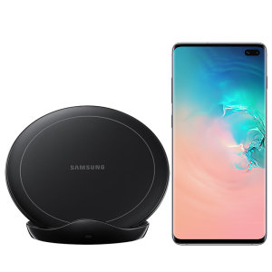 Charge your Samsung Galaxy S10 Plus quickly with the 9W official fast wireless charging stand in black. Spend less time waiting around for your phone to charge with this official Samsung fast wireless charging stand.