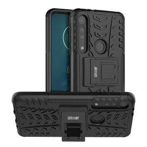 Protégez votre Motorola Moto G8 Plus des chocs et des éraflures grâce à cette coque Olixar ArmourDillo en coloris noir. Cette coque est composée d'un boîtier interne en TPU et d'un exosquelette externe résistant aux impacts. Elle comprend par ailleurs un support de visualisation intégré.