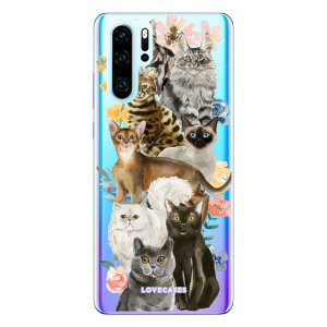 Give your [Huawei P30 Pro a cute new look with this Cats design phone case from LoveCases. Cute but protective, the ultra-thin case provides slim fitting and durable protection against life's little accidents
