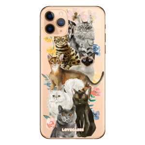 Give your iPhone 11 Pro a cute new look with this Cats design phone case from LoveCases. Cute but protective, the ultra-thin case provides slim fitting and durable protection against life's little accidents