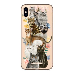 Give your iPhone XS a cute new look with this Cats design phone case from LoveCases. Cute but protective, the ultra-thin case provides slim fitting and durable protection against life's little accidents