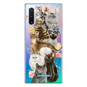 Give your Samsung Note 10 a cute new look with this Cats design phone case from LoveCases. Cute but protective, the ultra-thin case provides slim fitting and durable protection against life's little accidents