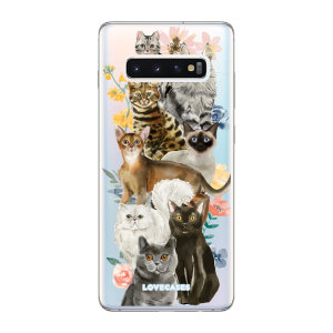 Give your Samsung Galaxy S10 Plus a cute new look with this Cats design phone case from LoveCases. Cute but protective, the ultra-thin case provides slim fitting and durable protection against life's little accidents