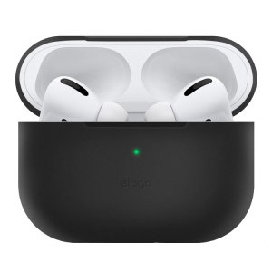 Add superior protection to your Apple AirPods Pro case in Black with this stylish, sleek and minimalist silicone cover from Elago. The cover allows full access to your AirPods Pro and their charging case.