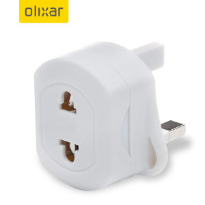Olixar Travel Adaptor EU - UK (2 - 3 Pin)