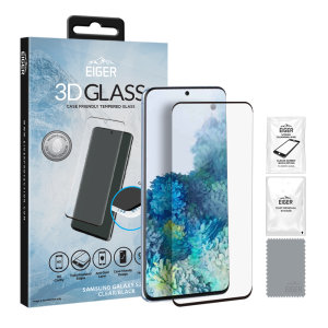 Introducing the ultimate in screen protection for the Samsung Galaxy S20 Plus, the 3D Glass by Eiger is made from premium real tempered glass with rounded edging and anti-shatter glass for a perfect fit and ultimate protection for your S20 Plus.
