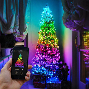 Add colour to your festive celebrations with Twinkly Smart Lights. Using the free iOS and Android app, brighten up your tree with a range of built-in animations and effects or create your own and share them with others. Comes with US Mains Adaptor.