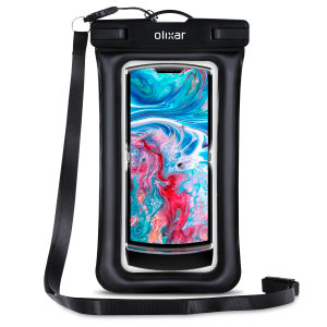 The Olixar Action Universal Waterproof Case for the Motorola Razr 2019 is a protective case providing 100% waterproofing and touchscreen operation for your Razr for activities that require near water or even underwater adventures.