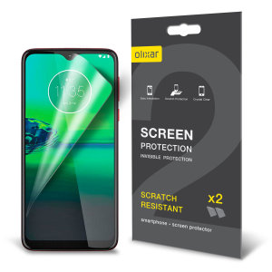 Keep your Motorola Moto G8 Play screen in pristine condition with this Olixar scratch-resistant screen protector 2-in-1 pack. Ultra responsive and easy to apply, these screen protectors are the ideal way to keep your display looking brand new.