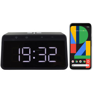 The Smart Alarm Clock 2 from Ksix is the perfect bedside accessory. The slim design displays a clear time without using much space. Never lose power as this clock is built with a Qi Fast Charger for your Pixel 4 XL.