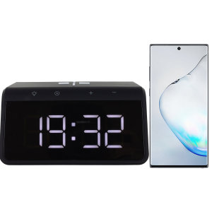 The Smart Alarm Clock 2 from Ksix is the perfect bedside accessory. The slim design displays a clear time without using much space. Never lose power as this clock is built with a Qi Fast Charger for your Note 10.