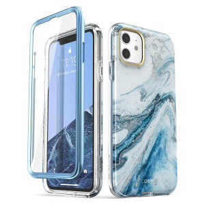 Blending fun, sass, protection and everything in-between, Cosmo Marble Blue is finally here for your iPhone 11 from i-Blason. Say goodbye to ugly scratches, scrapes, and falls with industry-leading drop protection, a built-in screen protector.