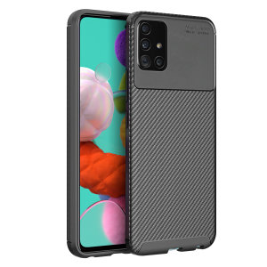 Olixar Carbon Fibre Samsung Galaxy A51 Case - Black