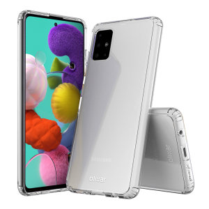 Custom moulded for the Samsung Galaxy A51. This clear Olixar ExoShield tough case provides a slim fitting stylish design and reinforced corner shock protection against damage, keeping your device looking great at all times.
