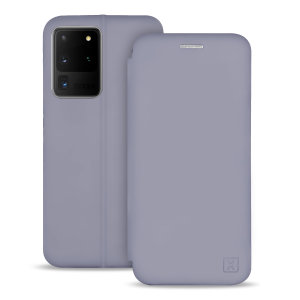 Custom moulded for the Samsung S20 Ultra, this grey soft silicone flip case from Olixar provides excellent protection against damage as well as a slimline fit. Additionally, this case transforms into a stand to view media and includes a card slot.