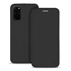Custom moulded for the Samsung Galaxy S20 Plus, this black soft silicone flip case from Olixar provides excellent protection against damage as well as a slimline fit. Additionally, this case transforms into a stand to view media and includes a card slot.