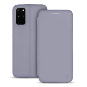 Olixar Soft Silicone Samsung Galaxy S20 Plus Wallet Case - Grey