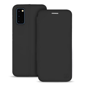 Custom moulded for the Samsung Galaxy S20, this black soft silicone flip case from Olixar provides excellent protection against damage as well as a slimline fit. Additionally, this case transforms into a stand to view media and includes a card slot.
