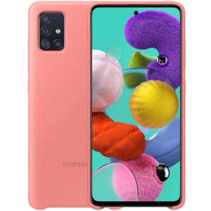 Protect your Samsung Galaxy A51 with this official silicone case in Pink. Simple yet stylish, this case is the perfect accessory for your A51. Incredibly lightweight and sleek this case ensures you're ready for any occasion.