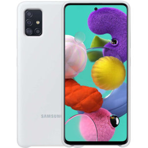 Protect your Samsung Galaxy A51 with this official silicone case in White. Simple yet stylish, this case is the perfect accessory for your A51. Incredibly lightweight and sleek this case ensures you're ready for any occasion.